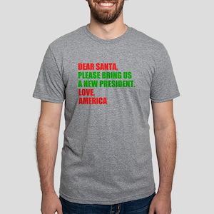 Dear Santa Impeach Trump Mens Tri-blend T-Shirt