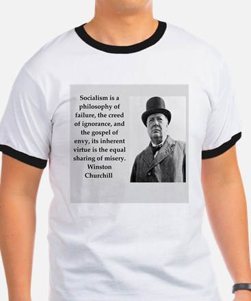 Wisnton Churchill quote on gifts and t-shirts. T-S