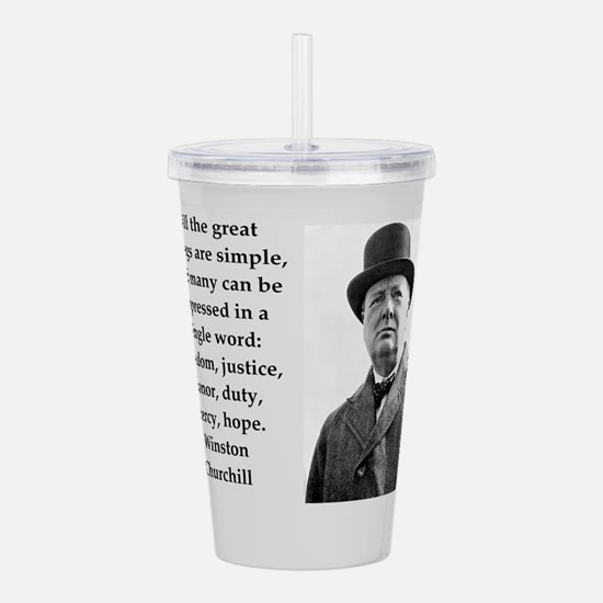 Wisnton Churchill quote on gifts and t-shirts. Acr