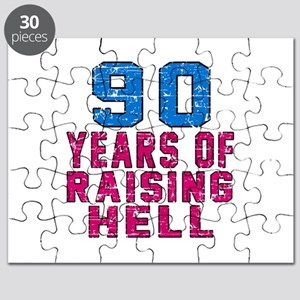90 Years Of Raising Hell Birthday Puzzle