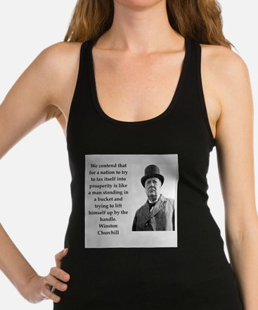 Wisnton Churchill quote on gifts and t-shirts. Rac