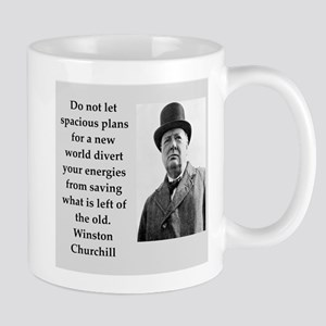 Wisnton Churchill quote on gifts and t-shirts. Mug