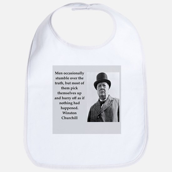 Wisnton Churchill quote on gifts and t-shirts. Bib