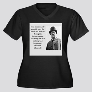 Wisnton Churchill quote on gifts and t-shirts. Plu