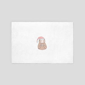 Santa Sloth Hipster 4' x 6' Rug