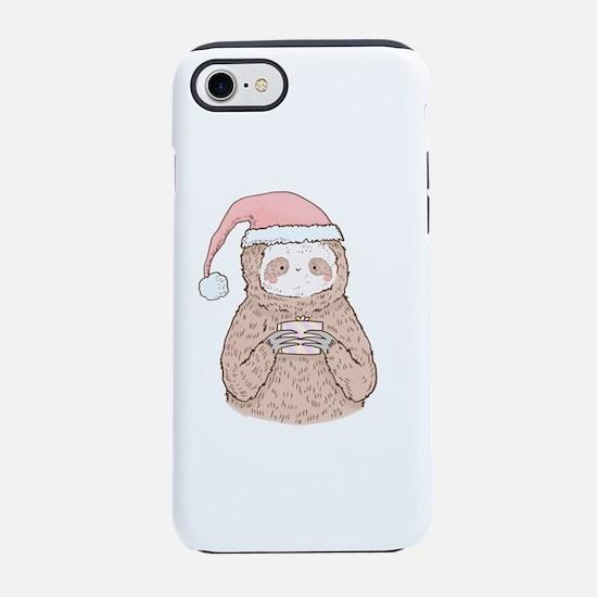 Santa Sloth Hipster iPhone 8/7 Tough Case
