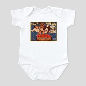 Vintage Four Friends Crate La Infant Bodysuit