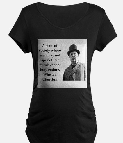 Wisnton Churchill quote on gifts and t-shirts. Mat