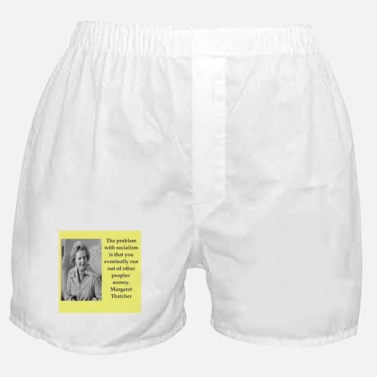 Margaret Thatcher quote Boxer Shorts