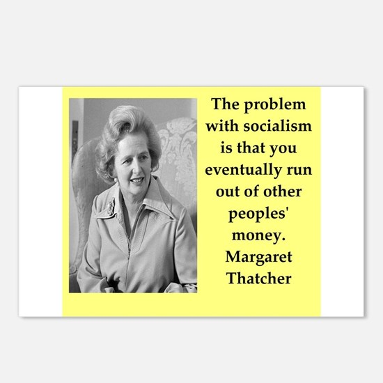 Margaret Thatcher quote Postcards (Package of 8)
