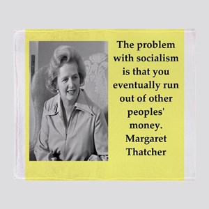 Margaret Thatcher quote Throw Blanket