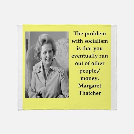 Margaret Thatcher quote Throw Blanket