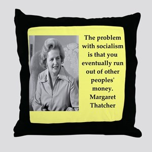 Margaret Thatcher quote Throw Pillow
