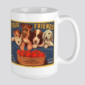 Vintage Four Friends Crate La Large Mug