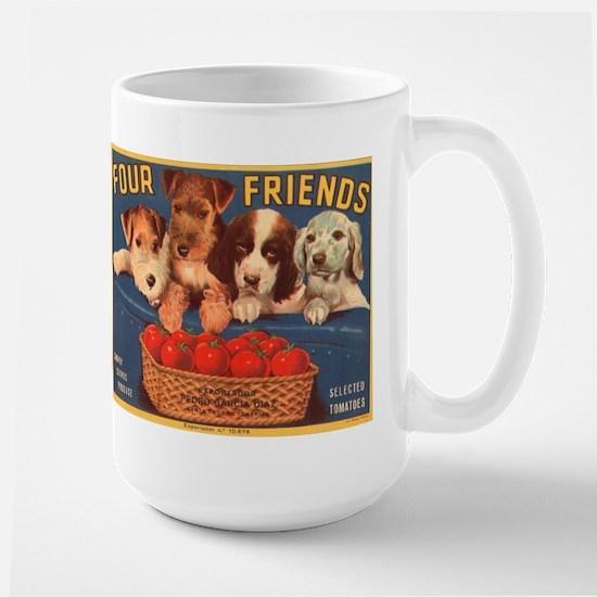 Vintage Four Friends Crate La Large Mug