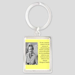 Margaret Thatcher quote Keychains