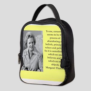 Margaret Thatcher quote Neoprene Lunch Bag