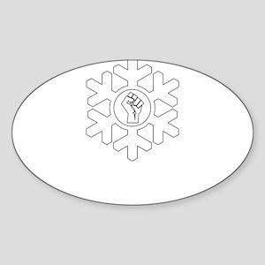 Power Fist Proud Snowflake Christmas Liber Sticker