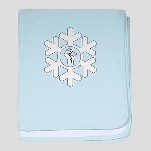 Power Fist Proud Snowflake Christmas baby blanket