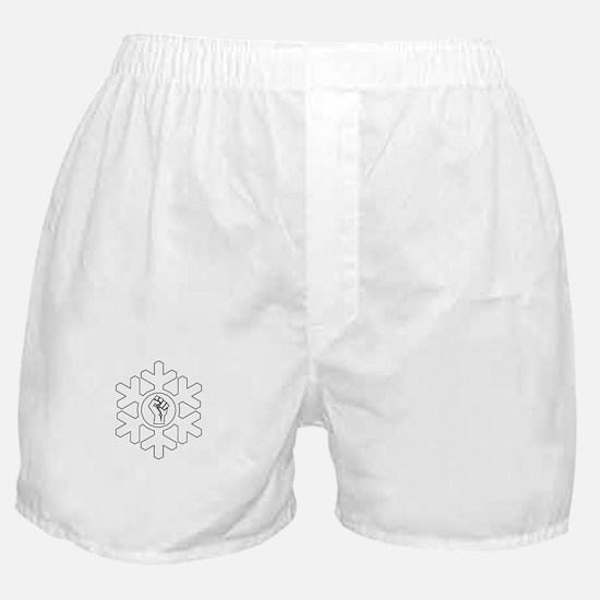 Power Fist Proud Snowflake Christmas Boxer Shorts