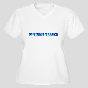 Futures Trader Blue Bold Design Plus Size T-Shirt