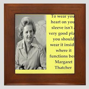 Margaret Thatcher quote Framed Tile
