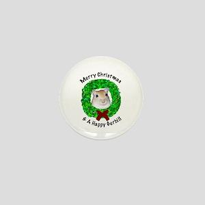 Merry Christmas & A Happy Gerbil mini button