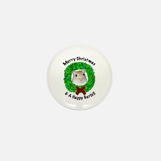 Merry Christmas & A Happy Gerbil mini button