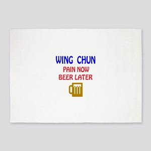 Wing Chun Pain Now Beer Later 5'x7'Area Rug