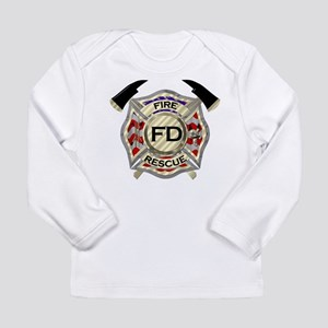 Maltese Cross with American Fl Long Sleeve T-Shirt