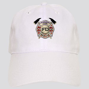 Maltese Cross with American Flag background Cap