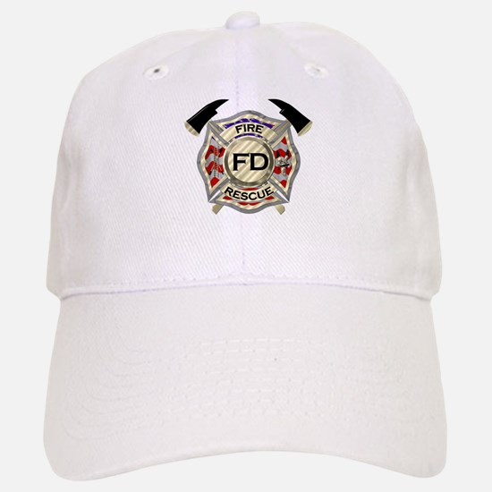 Maltese Cross with American Flag background Hat