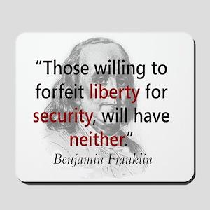 Benjamin Franklin Mousepad