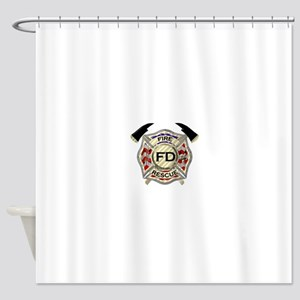 Maltese Cross with American Flag ba Shower Curtain