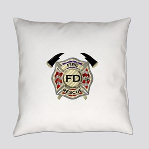 Maltese Cross with American Flag b Everyday Pillow