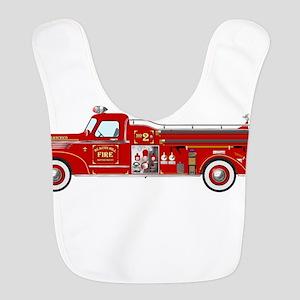 Fire Truck - Vintage fire truck. Bib