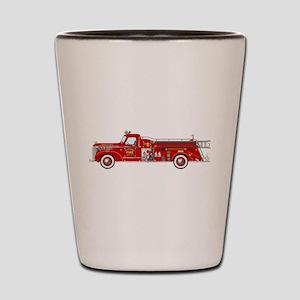 Fire Truck - Vintage fire truck. Shot Glass