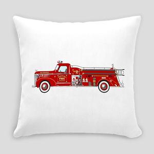 Fire Truck - Vintage fire truck. Everyday Pillow