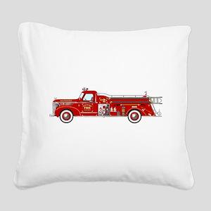 Fire Truck - Vintage fire tru Square Canvas Pillow