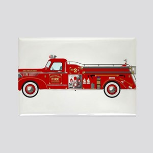 Fire Truck - Vintage fire truck. Magnets