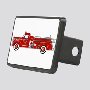 Fire Truck - Vintage fire Rectangular Hitch Cover