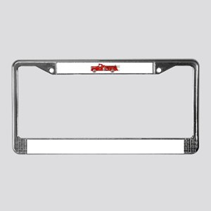Fire Truck - Vintage fire truc License Plate Frame