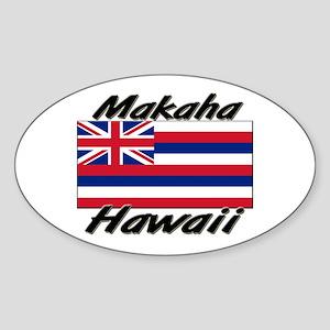 Makaha Hawaii Oval Sticker
