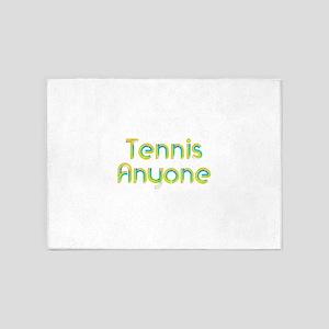 Tennis Anyone 5'x7'Area Rug