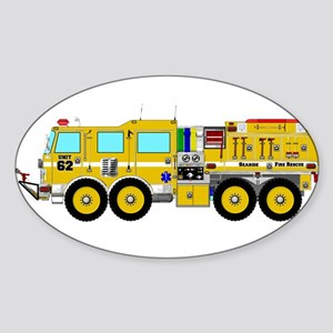 Fire Truck - Concept wild land yellow fire Sticker