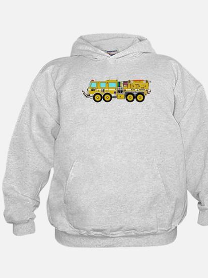 Fire Truck - Concept wild land yellow Hoodie