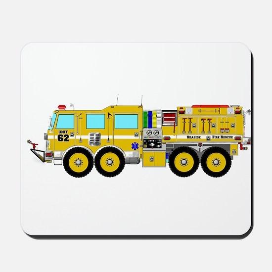 Fire Truck - Concept wild land yellow fi Mousepad