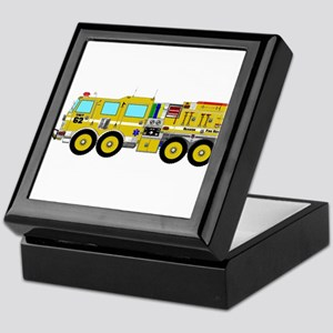 Fire Truck - Concept wild land yellow Keepsake Box