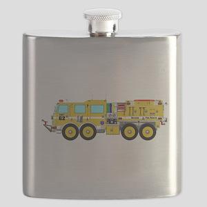 Fire Truck - Concept wild land yellow fire t Flask