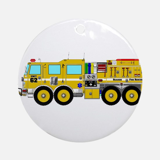 Fire Truck - Concept wild land yell Round Ornament